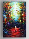 pintura a oleo de pessoas na lona pintada mao paisagem florestal com esticada pronto para pendurar emoldurado