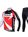 Mysenlan Maillot et Cuissard Long de Cyclisme Homme Manches longues Velo Pantalon/Surpantalon Maillot Collants Ensemble de Vetements