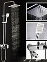 2016 New Design Contemporary Chrome Finished 8 Inch In Wall Shower Set with Shower Head and Hand Shower