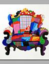 HANDMÅLAD Stilleben Fyrkantig,Moderna En panel Kanvas Hang målad oljemålning For Hem-dekoration