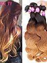 """4 st / lot 16 """"-24"""" 7a 3t peruanska jungfru hår förkroppsligar vinkar människohår väft 100% obearbetat peruanska remy hår väver"""