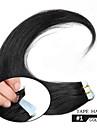 remy band hårförlängning remy människohår 16inch-24inch band i huden mänskligt löshår hårträns ingen härva ingen skjul