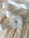 Satin Wedding / Party/ Evening / Dailywear Sash-Beading / Floral / Rhinestone Women\'s 98 ½in(250cm) Beading / Floral / Rhinestone