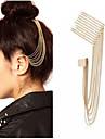 guld tonen spik tofsar hår kamma ear cuff örhänge icke genomborrade huvudbonad