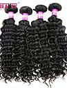 """4 st / lot 8 """"-30"""" 7a malaysiska jungfru hår vinkar djupt mänskliga hårwefts 100% obearbetat malaysiska remy hår väver"""
