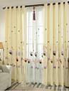 Deux Panneaux Le traitement de fenetre Neoclassique Chambre a coucher Metisse Lin et Polyester Materiel Rideaux TenturesDecoration