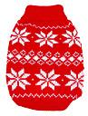 Chien Pull Rouge Vetements pour Chien Hiver / Printemps/Automne Motif de flocon de neige Garder au chaud / Noel / Nouvel An