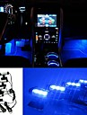 ziqiao 3LED voiture chargee 12v 4w briller interieur atmosphere 4in1 decoratif lumiere bleue atmosphere de la lampe a l\'interieur de la