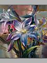 HANDMÅLAD Blommig/BotaniskRealism En panel Kanvas Hang målad oljemålning For Hem-dekoration