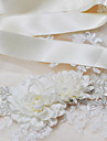 Satin Wedding / Party/ Evening / Dailywear Sash-Sequins / Beading / Appliques / Pearls / Floral Women\'s 98 ½in(250cm)Sequins / Beading /