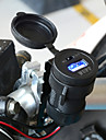 svart vattentät motorcykel USB-laddare med switch mobiltelefon billaddare nätadapter