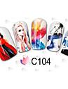 Tecknat / Vackert - Finger / Tå - 3D Nagelstickers - av Andra - 11PCS - styck 15cm x 10cm x 5cm (5.91in x 3.94in x 1.97in) - cm