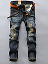 A bărbaților Pantaloni A bărbaților Casual / Mărime Mare Pur Fără Manșon Bumbac / Poliester