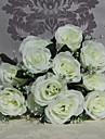högkvalitativa 9 huvuden rosor blommor silke blomma silke blomma konstgjorda blommor för heminredning 1st / set