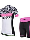 CHEJI® Cykeltröja med shorts Dam Kort ärm CykelAndningsfunktion / Snabb tork / Ultraviolet Resistant / Lättviktsmaterial / 3D Pad /