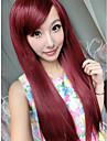 style cosplay fuxia longue perruque syntheic droite