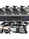 yanse® 4ch 960H 1000tvl kit CCTV DVR couleur etanche systeme de cameras de securite ir 3.6mm (cable 66ft) f278cf04