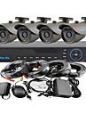 yanse® 4ch 960h 1000tvl CCTV dvr kit ir färg vattentät övervakningskameror systemet 3.6mm (66ft kabel) f278cf04