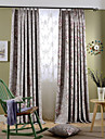 Deux Panneaux Rustique Floral / Botanique Bleu / Rose Chambre a coucher Polyester Rideaux occultants rideaux