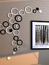 Romantik / Fashion / Former / 3D Wall Stickers Väggstickers i 3D , wood 15.5cm 13.5cm 10.5cm 8cm 6.5cm