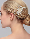 Women\'s Pearl Headpiece-Wedding Special Occasion Casual Office & Career Outdoor Hair Combs 1 Piece