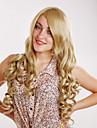 mode charmerende cosplay blonde lange krøllede af høj kvalitet syntetisk hår