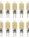 4W G4 LED a Double Broches T 14 SMD 2835 300-360 lm Blanc Chaud Blanc Froid Decorative AC 100-240 DC 12 V 10 pieces