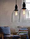 Max 60W Hängande lampor ,  Traditionell/Klassisk / Vintage / Kontor/företag / Rustik Rektangulär Särdrag for Ministil MetallLiving Room /