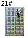 1 sheet - Autocollants 3D pour ongles - Doigt / Orteil - en Abstrait - 13*7.5