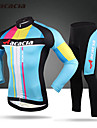 Acacia® Maillot et Cuissard Long de Cyclisme Homme / Unisexe Manches longues VeloRespirable / Sechage rapide / Permeabilite a l\'humidite