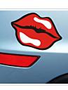 rolig populär logo läppar bil klistermärke bil fönster vägg dekal bil styling (1st)