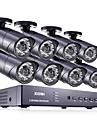 zosi® 8 canales hdmi 960H dvr vigilancia ir a casa el sistema de camaras de seguridad cctv 8 PC 1000tvl