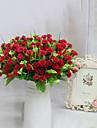 7 huvuden hög kvalitet lila blommor silke blomma silke blomma konstgjorda blommor för heminredning 1st / set