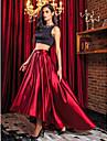 Linia -A Bijuterie Asimetric Satin Stretch Bal Seară Formală Rochie cu Mărgele de TS Couture®