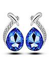 Cercei Stud Cercei Rotunzi  Imitație de Perle Alb Albastru Închis Mov Rosu Albastru Bijuterii Pentru Nuntă Petrecere Zilnic Casual 1set