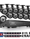 annke® 16ch hd 1080p cctv exterieur dvr systeme de camera de securite a domicile enregistrement video