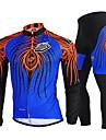 Nuckily Maillot et Cuissard Long de Cyclisme Homme Manches longues VeloRespirable Sechage rapide Pare-vent Resistant aux ultraviolets