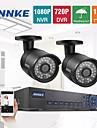 annke® 4ch 960h 720p 1200tvl nätverk dvr CCTV videoövervaknings övervakningskameror systemet