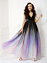 TS Couture® Formal Evening Dress - Sheath/Column V-neck Floor-length Chiffon