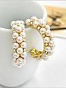 Cercei Stud Cercei Rotunzi  bijuterii de lux Perle Imitație de Perle Zirconiu Cubic imitație de diamant Aliaj Circle Shape Culoare ecran