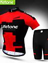 BATFOX® Cykeltröja med shorts Herr Kort ärm CykelVattentät / Andningsfunktion / Snabb tork / Vindtät / Ultraviolet Resistant /