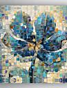 Pictat manual Floral/BotanicModern Un Panou Canava Hang-pictate pictură în ulei For Pagina de decorare