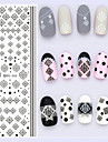 Blomma / Abstrakt - Finger - 3D Nagelstickers - av Andra - 1 - styck 16X7X0.1 - cm