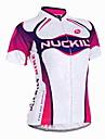 NUCKILY® Cykeltröja Dam Kort ärm CykelAndningsfunktion / Ultraviolet Resistant / Fuktgenomtränglighet / Inbyggd Vattenkokare Väska /