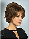 kvinnor fin gyllenbrun blandad lady rakt kort syntetiskt hår peruker fri frakt