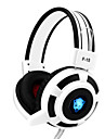 Yoro f15 gaming headset stereo brusreducerande med mikrofon&volymkontroll LED-lampor för pc / notebook / laptop