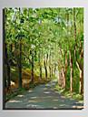 Mini e-home oljemålning moderna vägar i skogen ren hand dra ramlösa dekorativt måleri
