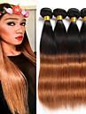 Tissages de cheveux humains Cheveux Bresiliens Droit 6 Mois 4 Pieces tissages de cheveux