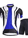 NUCKILY® Cykeltröja med shorts Herr Kort ärm CykelAndningsfunktion / Snabb tork / Vindtät / Anatomisk design / Ultraviolet Resistant /