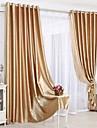 Twee panelen Neoklassiek Effen Beige / Rood / Goud Slaapkamer Polyester Paneelgordijnen gordijnen